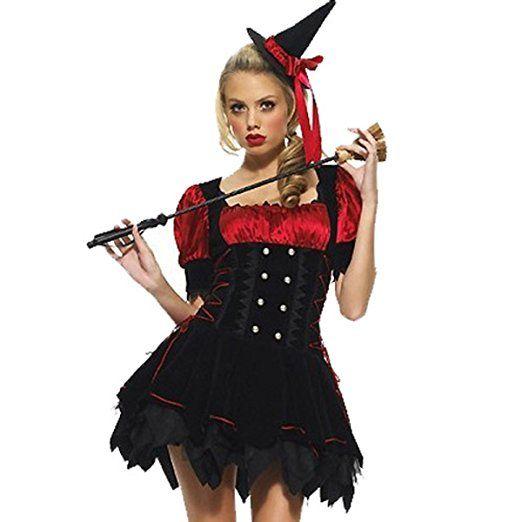 Nihiug Hexe Kleidung Harry Potter Vampire Anzüge Halloween Masquerade Sexy Kostüm Menschliches Skelett Schreckliches Bühnenkostüm,Black