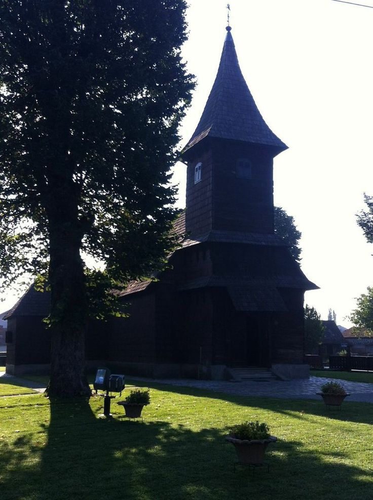 The most beautiful wooden church of Saint Barbara at Velika Mlaka built in 1642