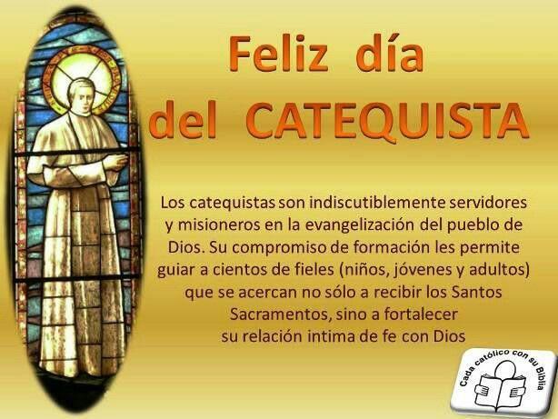 Feliz Domingo para todos y día del Catequista Dios y María los bendiga .😀🙅👍👏😇💙⛪📖🌇🙋