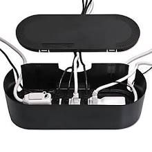 D-Line Cable Tidy Units, Cord Concealer, Black (CTULGEB/SW)