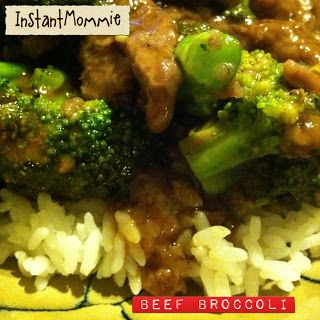 Instant Mommie: Yummo Weight Watchers Beef Broccoli