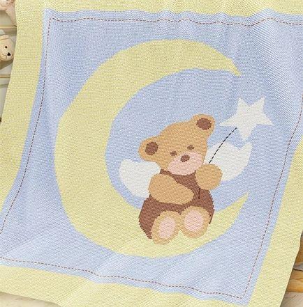 Knitting Pattern | Baby Blanket / Afghan - Angel Bear