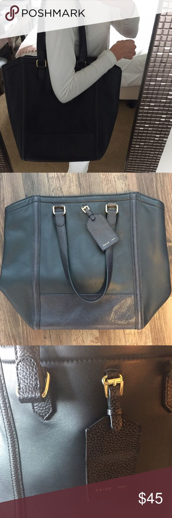 Reiss London Black Leather Tote Bag Reiss London Black Leather Tote Bag. New condition. reiss london Bags Totes