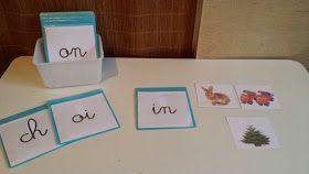 Aux Couleurs de Montessori: Pochettes d'images des premiers phonèmes à graphies complexes