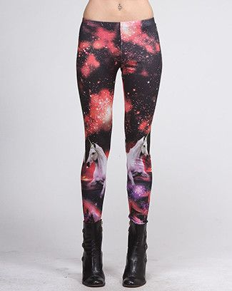 Galaxy Unicorn Leggings - Pixie Kitsune  Two of my favorite things: unicorns and space. I'm getting these!