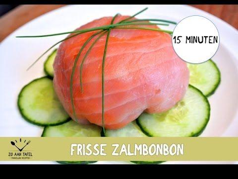 Snel voorgerecht: Zalmbonbon met bleekselderij en appel - YouTube