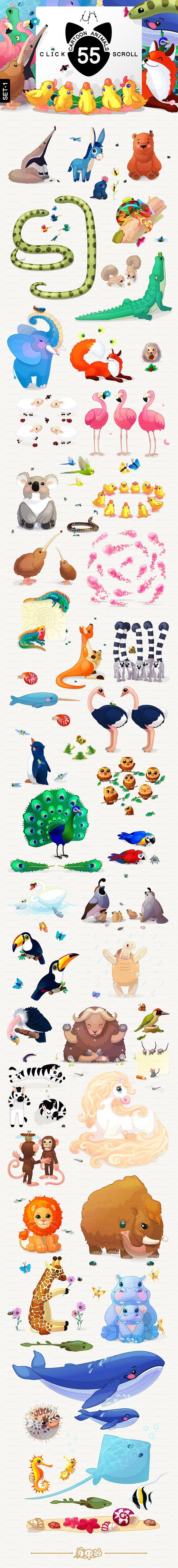 ♥️ 220 species of animals & plants by WINDmade on @creativemarket