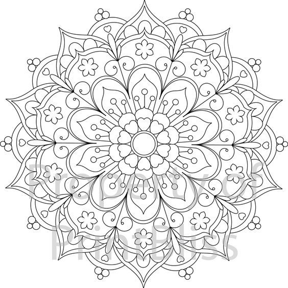 The 25+ best Mandala printable ideas on Pinterest | Mandala ...