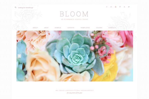 Bloom // An Ecommerce Genesis Theme by Restored 316 on Creative Market