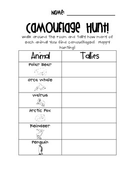 Worksheet Grade 2 Worksheet On Camouflage 56 best camouflage images on pinterest science ideas a fun lesson in my tpt store