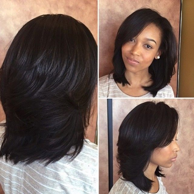STYLIST FEATURE| Silk Press or Sew In? This #sewin was done by #NorfolkStylist @HumbleHair❤️ Looks so natural She's rocking @sassymitchellhair #VoiceOfHair ========================= Go to VoiceOfHair.com ========================= Find hairstyles and hair tips! =========================