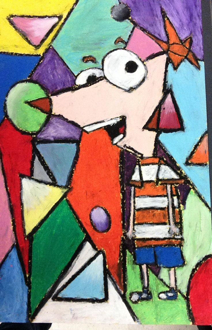 Cubist Art, 5th Grade Art, Oil Pastel