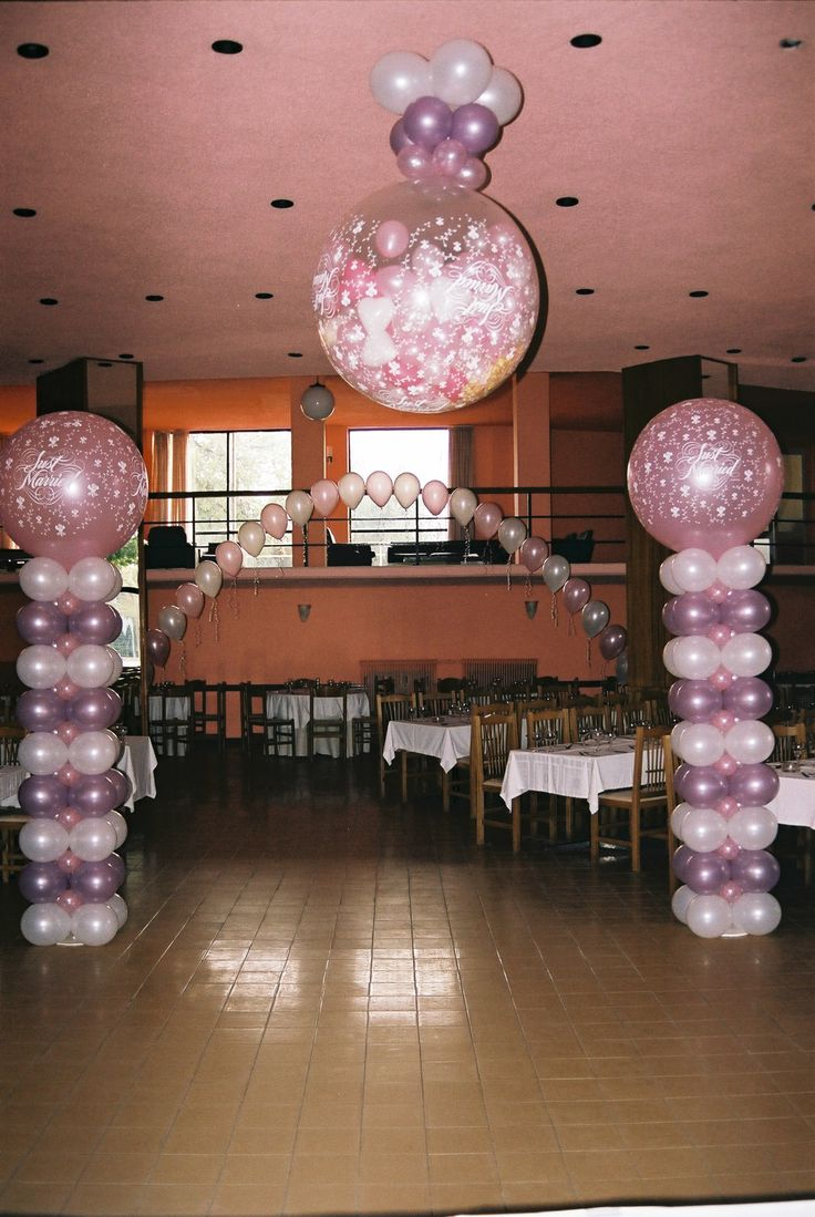 Wedding decoration with balloons #wedding #decoration #balloon #marriage #ideas