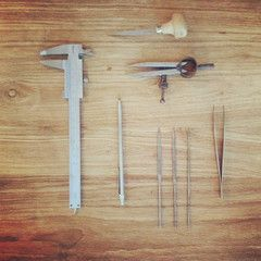 Some of the (many) tools I use as a goldsmith to create jewelry | www.nanini.nl