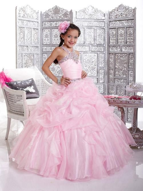 Pageant Gowns Light Pink, Organza Ball Gown Beaded Crystals Straps Beauty Pageant Dresses, 2015 Little Girls Special Occasion Party Dress Uk Pageant Dress Rental Pageant Dresses For Rent