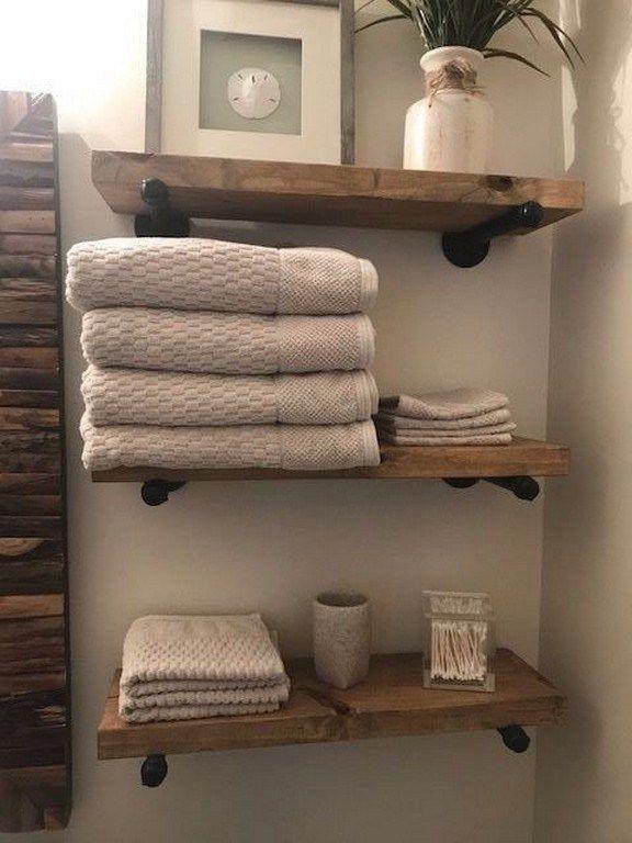87 Small Bathroom Storage Ideas And Wall Storage Solutions 81 Interior Design Diy Bathroom Storage Rustic Shelves Small Bathroom Decor