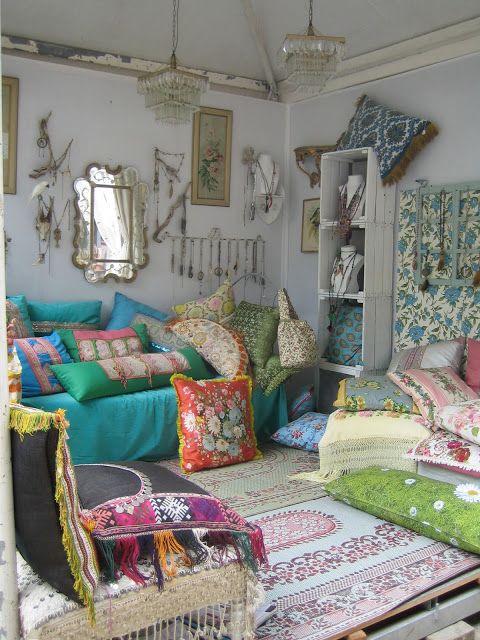 boho living room More
