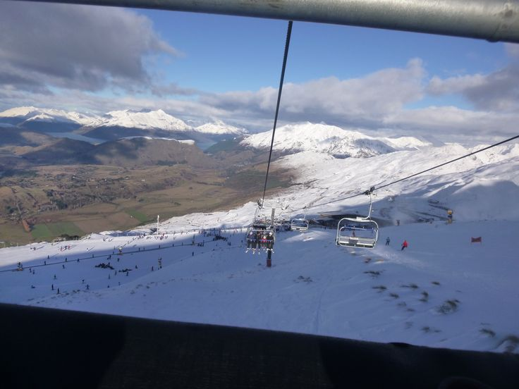 Ski Trip- breathe taking view from the Chairlifts at Coronet Peak!