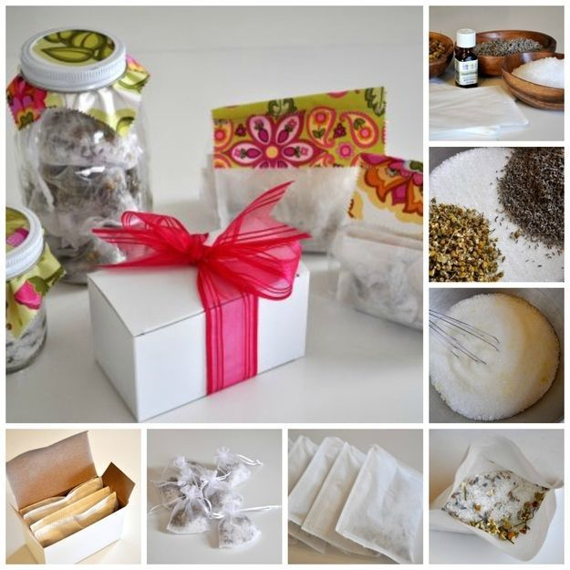 Handmade Gifts & Wrap Ideas : 5.  Thé de bain