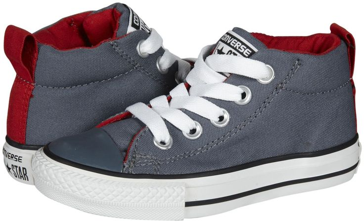 youth gray converse mid tops : ShieldsDESIGN