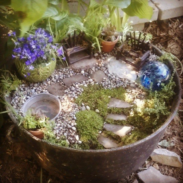 30 best my fairy garden 2015 images on pinterest fairies for Koi pool thornton