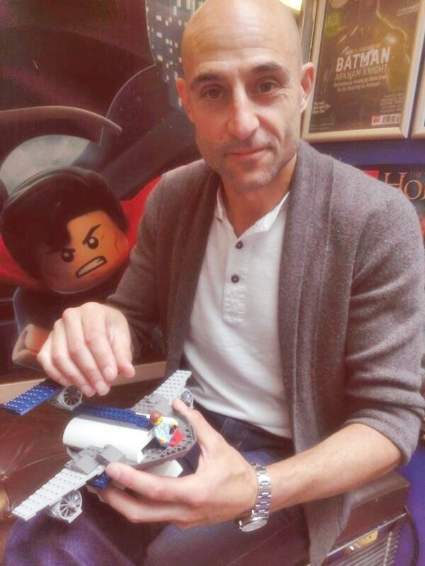 Mark Strong and Legos. Cutest thing ever. :)