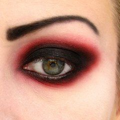 Vampire Eye makeup - Hard to get right, one wrong move and you just look like you have been crying...a lot.