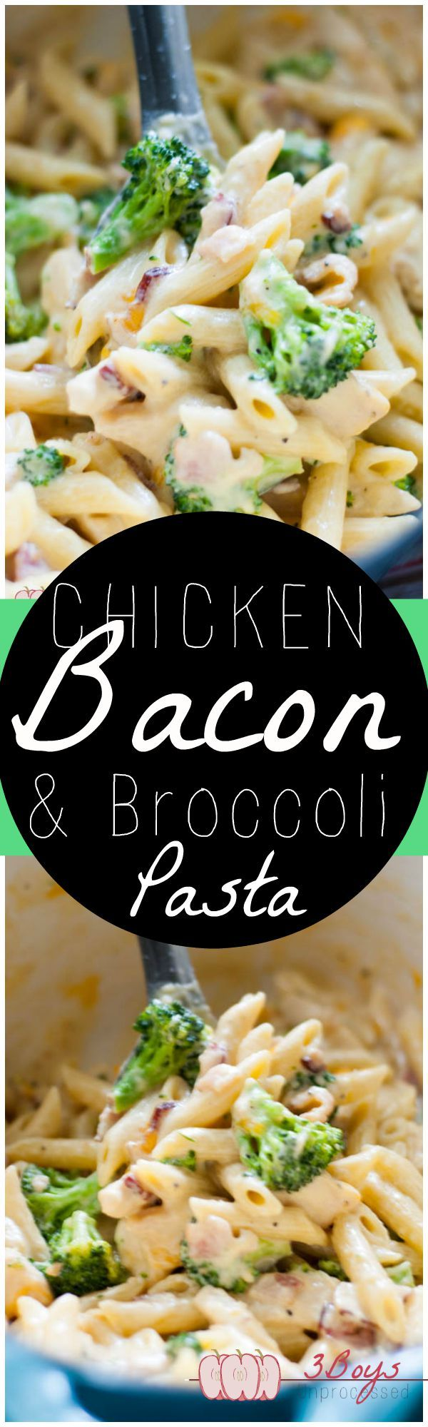 Chicken, Bacon, and Broccoli Pasta
