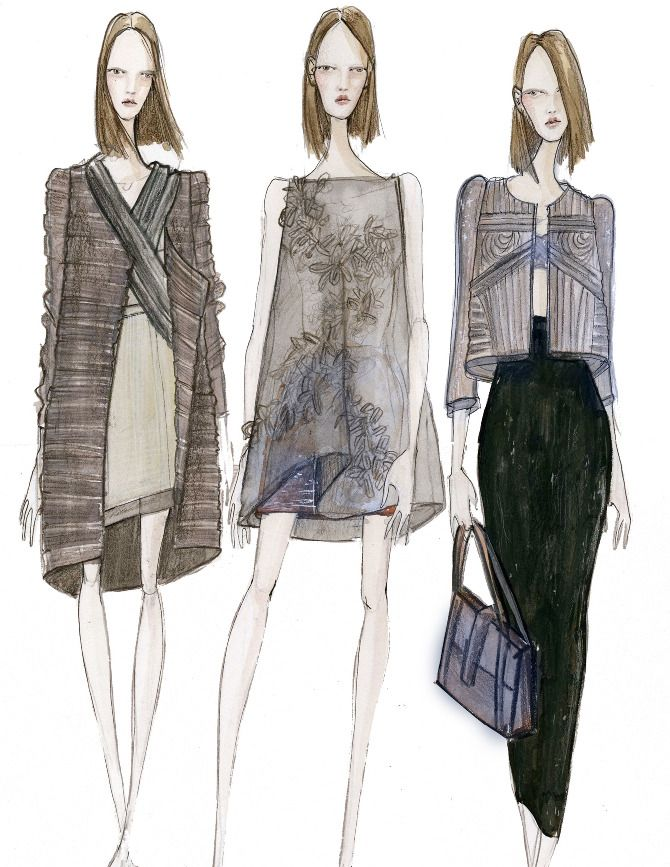 Fashion Sketchbook - fashion design drawings; womenswear collection sketches…