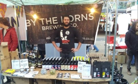 The local By The Horns Brewery showcasing their #Tooting-inspired 'Wolfie Smith' Amber Ale at the Independent Labels Festival at Spitalfields...