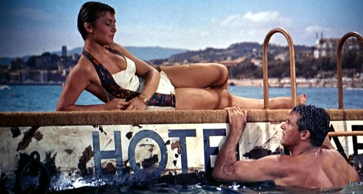 To Catch a Thief_Brigitte Auber, Cary Grant swimsuit full -Hitchcock - La main au collet -