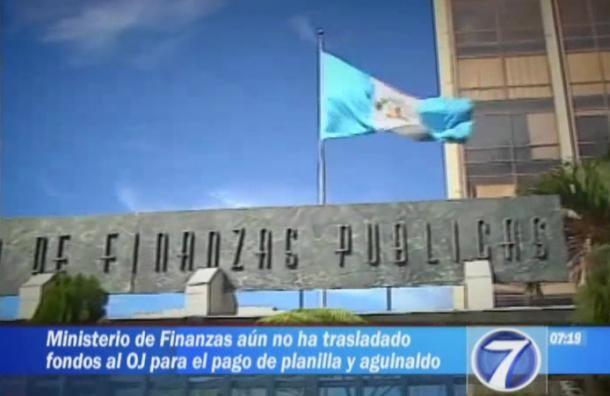 Ministerio de Finanzas aún no traslada dineros al Organismo Judicial | Actualidad | Canal 3