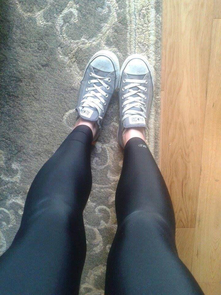 black mat leggings