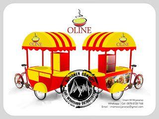 Desain Logo | Logo Kuliner |  Desain Gerobak | Jasa Desain dan Produksi Gerobak | Branding: Desain Gerobak Sepeda Oline Bubur Ayam