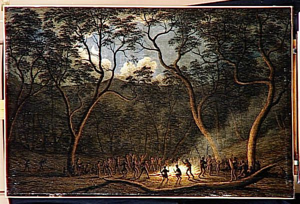 A Corroboree in Van Dieman's Land by John Glover, 1840