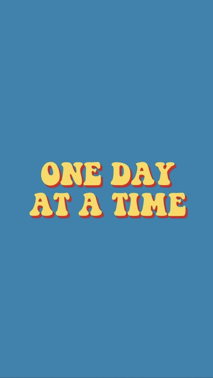One Day At A Time Yellow Words Wallpaper Happy Words Cute Quotes