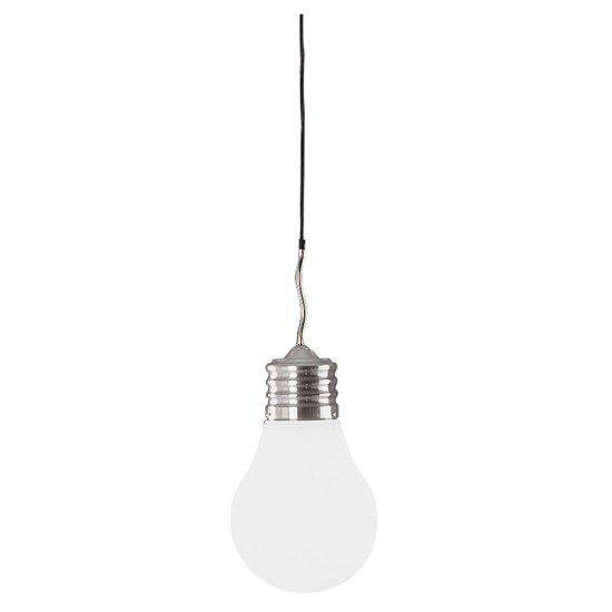 Trio Serie 3401 Hanglamp 1x60W RVS Wit 3401011-07