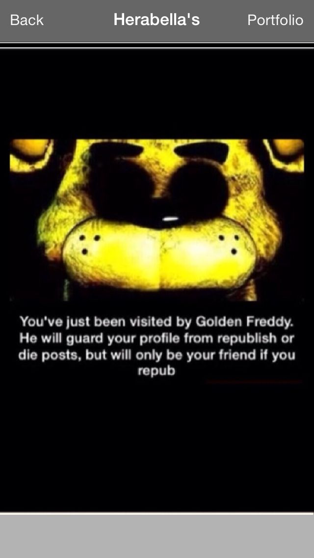 This is cool I'm gonna do it Also Golden freddy is amaing Click here to listen to his song 'Just Gold'https://www.youtube.com/watch?v=bhJGXzOE5fQ