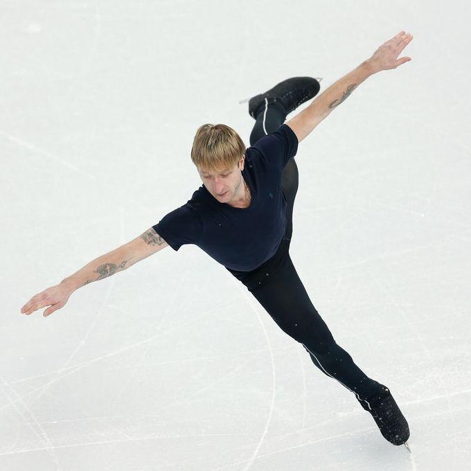 Eugeni Plushenko, uno dei miti del pattinaggio sul ghiaccio, in allenamento a #sochi #olimpiadi