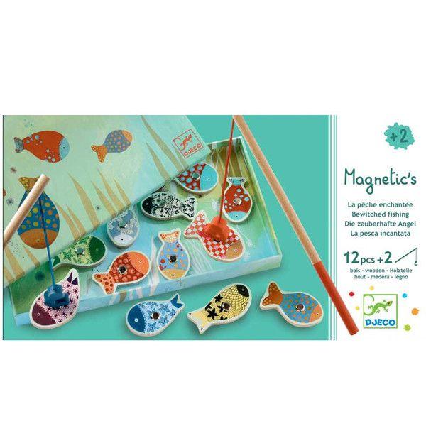 Djeco fiskespil med magneter, kulørte fisk