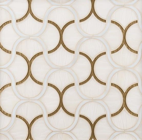 Ann Sacks Mosaic Bathroom Tile: ANN SACKS Chrysalis Fish Scale Glass Mosaic In Spirit