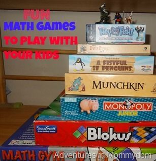 Fun Math Games to play with your kids