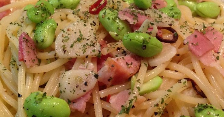 枝豆とベーコンのペペロンチーノパスタ by fumiねえさん 【クックパッド】 簡単おいしいみんなのレシピが274万品