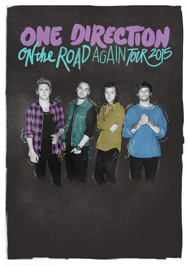 Back to work: One Direction have released their first tour poster as a four piecejust wee...