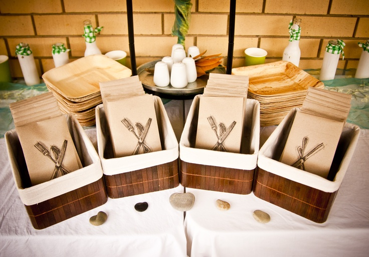 Envelopes Of Bamboo Cutlery......we printed the logo onto recycled envelopes.