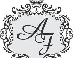 Adesivo - Coroa Iniciais