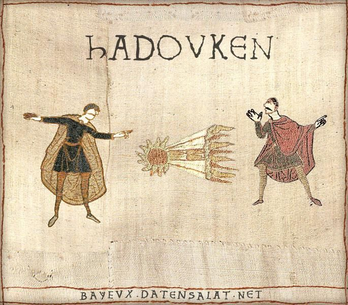 The Bayeux Tapestry is an embroidered cloth—not an actual tapestry—nearly 70 metres (230 ft) long, which depicts the events leading up to the Norman conquest of England concerning William, Duke of Normandy, and Harold, Earl of Wessex, later King of England, and culminating in the Battle of Hastings. #archaeology #memes #jokes