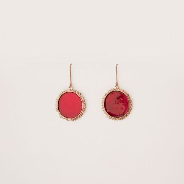 """Root Chakra"" Earrings by Paul Sarz for Namastoo"