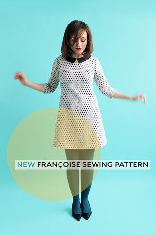 Women's dress pattern, women's dress sewing pattern, for the Francoise Raglan Shift Dress Sewing Pattern