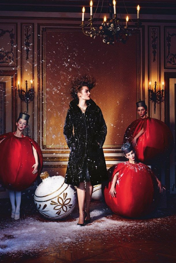 Artistic design Holiday catalog 2013 of store Neiman Marcus - ornaments